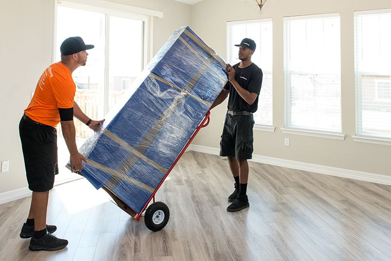 Image of Local Moving LLC movers in Cañon City moving boxes.